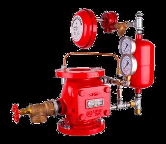 válvula de governo e alarme ( VGA), dilúvio  e redutora de pressão
