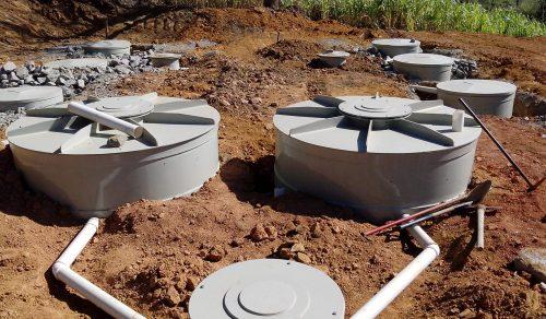 Fossa, Filtro e Sumidouro Para tratamento de esgoto sanitário e efluente industrial