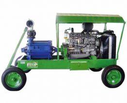 Moto-bombas diesel sob carrinho ou eixo cardam