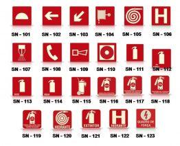 Placas de sinalização FLUORECENTE