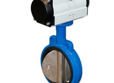 Válvula borboleta  com atuador pneumático Norma ANSI ferro fundido