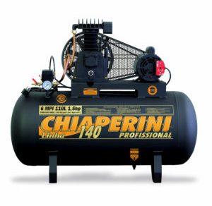 COMPRESSOR DE AR MEDIA PRESSAO 140 LBS 6 PCM, 110 LITROS , 1.5 HP MONOF. 220 V- MOD. 6MPI 110 CHIAPERINI