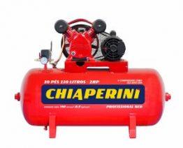 COMPRESSOR DE AR MEDIA PRESSAO RED 140 LBS 10 PCM, 110 LITROS , 10 PÉS MONOF. 220 V- MOD. 10-110 RED CHIAPERINI