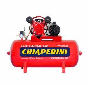 COMPRESSOR DE AR MEDIA PRESSAO RED 140 LBS 15 PCM, 150 LITROS , 15 PÉS MONOF. 220 V- MOD. 15-150 RED CHIAPERINI
