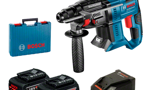 Martelete Perfurador a Bateria Bosch GBH 180-LI SDS-Plus, 18V (2)