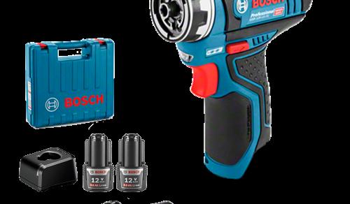 Parafusadeira e Furadeira a Bateria Bosch GSR 12V 15 FC Flexiclick, 12V