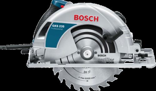 Serra Circular Bosch GKS 235 1700W 127V com 1 Disco de serra e Guia paralelo Professional