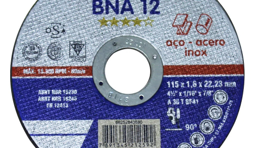 DISCO DE CORTE BNA 12 AÇO INOX 4'' 115 X 1.6X 22,23 mm NORTON