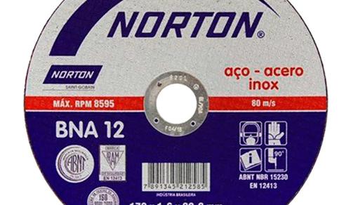 DISCO DE CORTE BNA 12 INOX 7'' NORTON