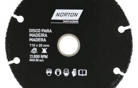 DISCO DE CORTE MADEIRA 4'' 110 X 20 mm NORTON