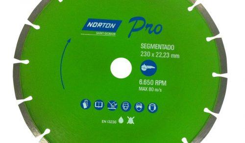 DISCO DIAMANTADO SEGMENTADO 230X 22,23 TURBO PRO NORTON