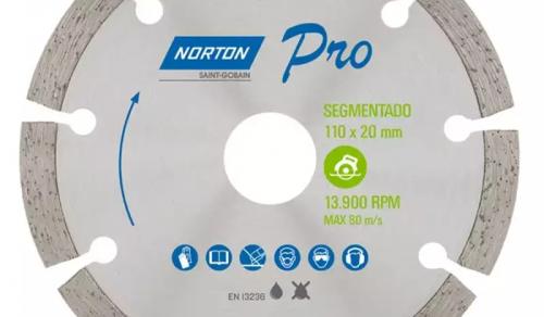 DISCO DIAMANTADO SEGMENTADO 4.3.8 '' TURBO PRO NORTON
